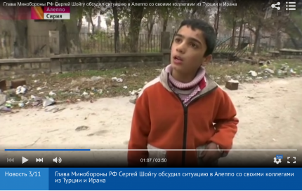 Novosti piece on return from aleppo