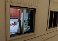 hospital bloody window